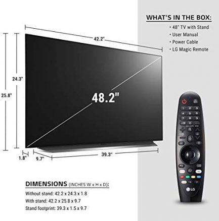 "LG OLED48CXPUB / OLED48CXAUB Alexa Built-in CX 48"" 4K Smart OLED TV (2020) (Renewed) 2"