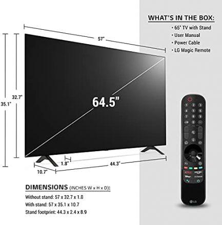 "LG OLED65A1PUA Alexa Built-in A1 Series 65"" 4K Smart OLED TV (2021) 3"