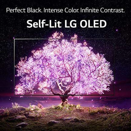 """LG OLED48C1PUB Alexa Built-in C1 Series 48"""" 4K Smart OLED TV (2021) (Renewed) 5"""