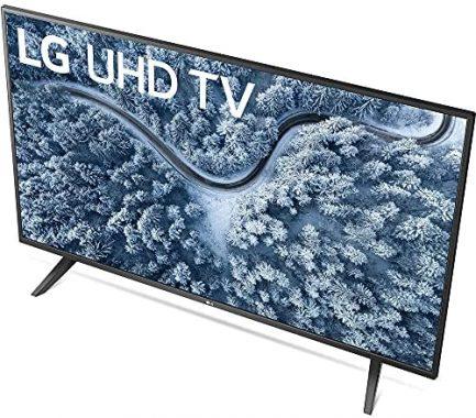 LG 55 Inch UP7000 Series 4K LED UHD Smart webOS TV (2021 Model) Bundle with Deco Home 60W 2.0 Channel Soundbar, 37-70 inch TV Wall Mount Bracket Bundle and 6-Outlet Surge Adapter 4