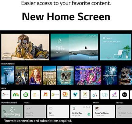 "LG LED Smart TV 65"" Slim Real 4k UHD NanoCell TV (3840 x 2160), 60Hz Refresh Rate, 4K Cinema, Apps Enabled, Gaming Mode, Google/Alexa - 2021 7"