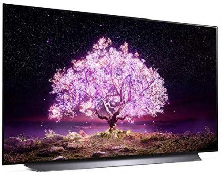 LG OLED48C1PUB 48 Inch 4K Smart OLED TV (2021 Model) Bundle with Deco Home 60W 2.0 Channel Soundbar, 37-70 inch TV Wall Mount Bracket Bundle and 6-Outlet Surge Adapter 7