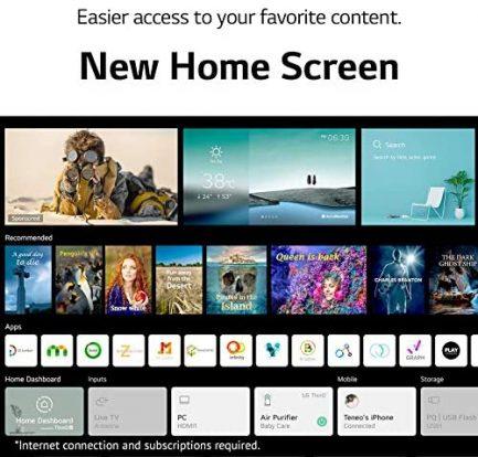 "LG OLED48A1PUA Alexa Built-in A1 Series 48"" 4K Smart OLED TV (2021) (Renewed) 8"