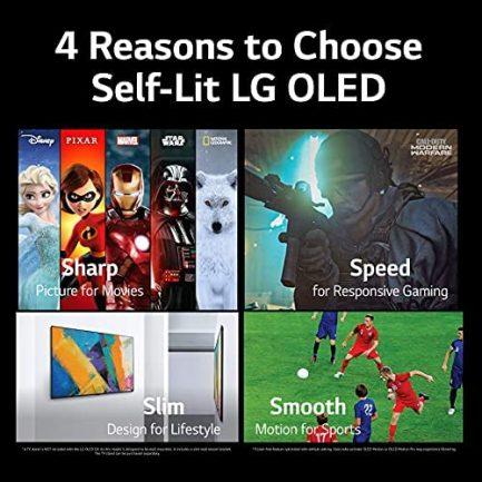 "LG OLED48A1PUA Alexa Built-in A1 Series 48"" 4K Smart OLED TV (2021) (Renewed) 7"
