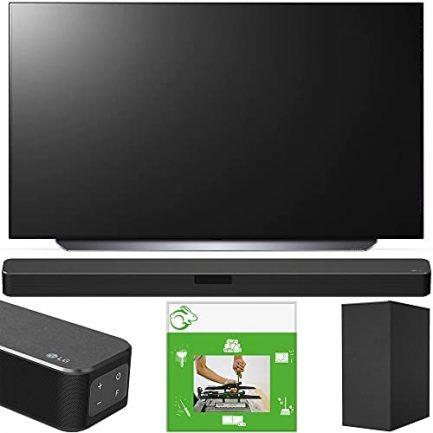 LG OLED48C1PUB 48 Inch 4K Smart OLED TV 2021 Model Bundle with LG SN5Y 2.1 Channel Hi-Res Audio Sound Bar with DTS Virtual:X and Taskrabbit Installation Service 1