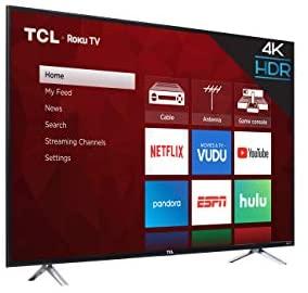 "TCL 65"" Class 4-Series 4K UHD HDR Roku 2017 Smart TV - 65S405 8"