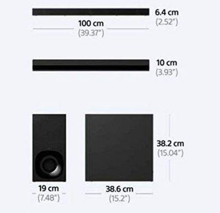"Sony XR-55A80J 55"" OLED BRAVIA XR 4K Ultra HD Smart TV with a Sony HT-Z9F 3.1 Channel Bluetooth Built-in Wi-Fi Dolby Atmos Soundbar (2021) 9"