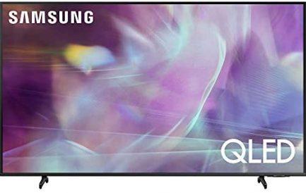 Samsung QN65Q60AAFXZA 65 Inch QLED 4K Smart TV 2021 Bundle with Deco Home 60W 2.0 Channel Soundbar, 37-100 inch TV Wall Mount Bracket Bundle and 6-Outlet Surge Adapter 2