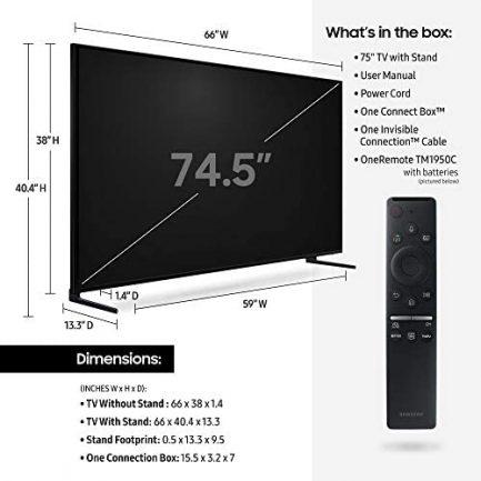 Samsung QN75Q900RBFXZA Flat 75-Inch QLED 8K Q900 Series Ultra HD Smart TV with HDR and Alexa Compatibility (2019 Model) 3