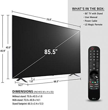 "LG 86NANO90UPA Alexa Built-In NanoCell 90 Series 86"" 4K Smart UHD NanoCell TV (2021) 3"