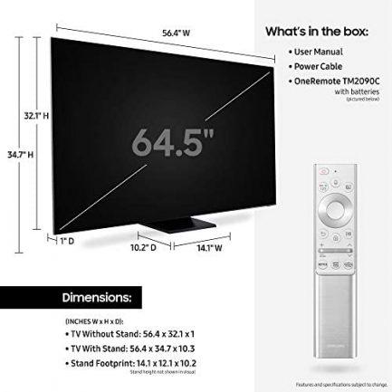 "Samsung 65"" Q900TS QLED 8K UHD Smart TV with Alexa Built-in QN65Q900TSAFXZA 2020 5"