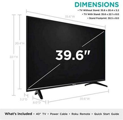 Hisense 40-Inch Class H4 Series LED Roku Smart TV with Alexa Compatibility (40H4F, 2020 Model) 5