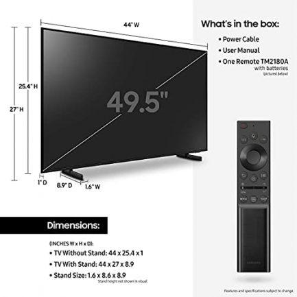 SAMSUNG UN50AU8000 / UN50AU8000 / UN50AU8000 50 inch Crystal UHD 4K Smart TV (Renewed) 6