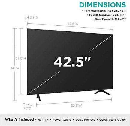 Hisense 43-Inch Class R6090G Roku 4K UHD Smart TV with Alexa Compatibility (43R6090G, 2020 Model) 2