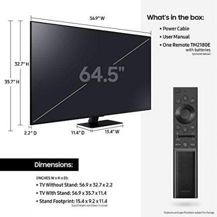 SAMSUNG 65-Inch Class QLED Q80A Series - 4K UHD Direct Full Array Quantum HDR 12x Smart TV with Alexa Built-in (QN65Q80AAFXZA, 2021 Model) 6