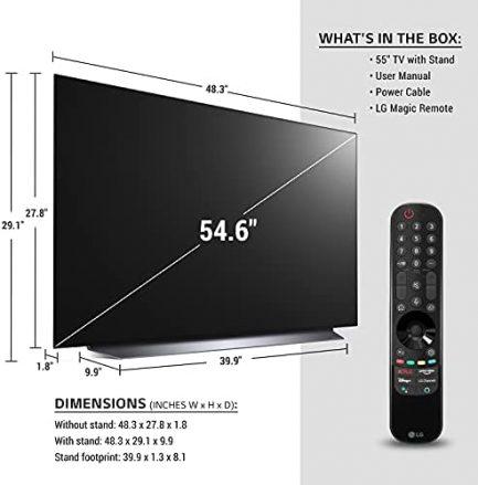 "LG OLED55C1PUB Alexa Built-in C1 Series 55"" 4K Smart OLED TV (2021) 3"