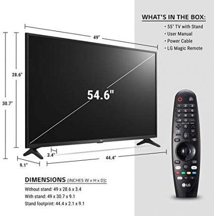 "LG 55UN7300PUF Alexa Built-In UHD 73 Series 55"" 4K Smart UHD TV (2020) 4"