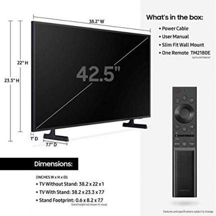 SAMSUNG QN43LS03A / QN43LS03AA / QN43LS03AA 43 inch The Frame QLED 4K Smart TV (Renewed) 5