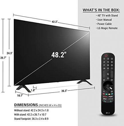 "LG OLED48A1PUA Alexa Built-in A1 Series 48"" 4K Smart OLED TV (2021) (Renewed) 3"
