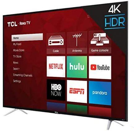 "TCL 65"" Class 4-Series 4K UHD HDR Roku 2017 Smart TV - 65S405 9"