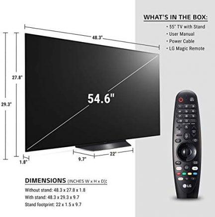 "LG OLED55BXPUA Alexa Built-In BX 55"" 4K Smart OLED TV (2020) (Renewed) 4"