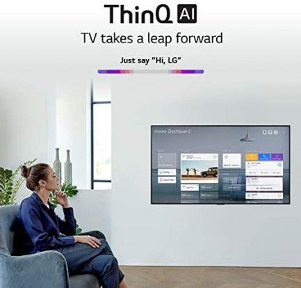 "LG OLED Smart TV 65"" Gallery Thin Frame 4K TV (3840 x 2160), AI-Powered 4K, 120Hz Refresh Rate, Dolby Cinema, Sports Alerts, PC Gaming, Google/Alexa - 2020 6"