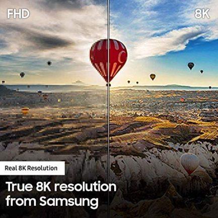SAMSUNG QN65Q900RBFXZA Flat 65-Inch QLED 8K Q900 Series Ultra HD Smart TV with HDR and Alexa Compatibility (2019 Model), Black 4
