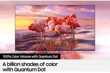 Samsung QN65Q60AAFXZA 65 Inch QLED 4K Smart TV 2021 Bundle with TaskRabbit Installation Services + Deco Gear Wall Mount + HDMI Cables + Surge Adapter 5