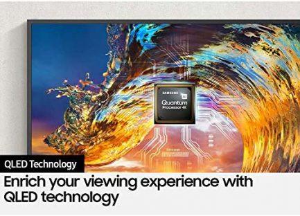 Samsung QN43LS03AAFXZA 43 Inch The Frame QLED 4K Smart TV 2021 Bundle with Samsung 2021 43 inch The Frame Customizable Bezel Modern Brown 6