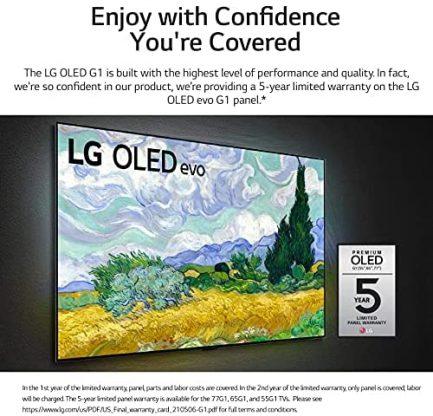 "LG OLED55G1PUA Alexa Built-in G1 Series 55"" Gallery Design 4K Smart OLED evo TV (2021) 6"