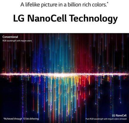 "LG LED Smart TV 65"" Slim Real 4k UHD NanoCell TV (3840 x 2160), 60Hz Refresh Rate, 4K Cinema, Apps Enabled, Gaming Mode, Google/Alexa - 2021 6"