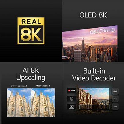 LG SIGNATURE OLED77ZXPUA Alexa Built-In ZX 77-inch 8K Smart OLED TV (2020 Model) 6