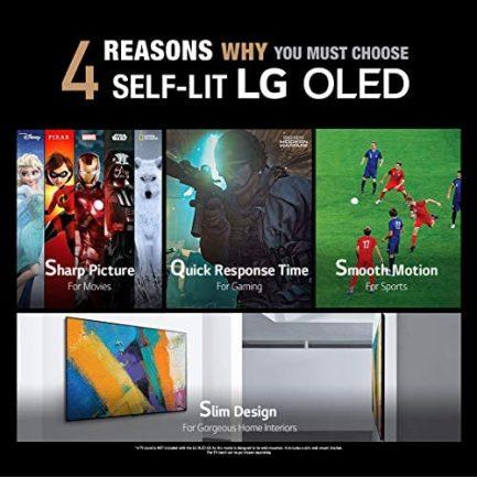 "LG OLED Smart TV 65"" Gallery Thin Frame 4K TV (3840 x 2160), AI-Powered 4K, 120Hz Refresh Rate, Dolby Cinema, Sports Alerts, PC Gaming, Google/Alexa - 2020 2"