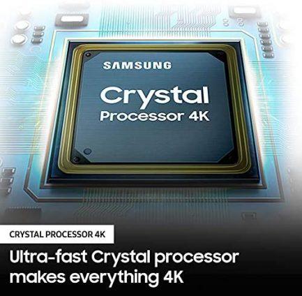 SAMSUNG 65-Inch Class Crystal UHD AU8000 Series - 4K UHD HDR Smart TV with Alexa Built-in (UN65AU8000FXZA, 2021 Model), Black 4