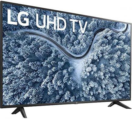 LG 65 Inch UP7000 Series 4K LED UHD Smart webOS TV (2021 Model) Bundle with Deco Home 60W 2.0 Channel Soundbar, 37-70 inch TV Wall Mount Bracket Bundle and 6-Outlet Surge Adapter 3