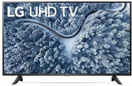 LG 55 Inch UP7000 Series 4K LED UHD Smart webOS TV (2021 Model) Bundle with Deco Home 60W 2.0 Channel Soundbar, 37-70 inch TV Wall Mount Bracket Bundle and 6-Outlet Surge Adapter 2