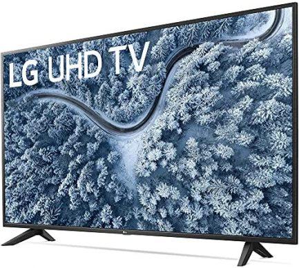 LG 65 Inch UP7000 Series 4K LED UHD Smart webOS TV (2021 Model) Bundle with Deco Home 60W 2.0 Channel Soundbar, 37-70 inch TV Wall Mount Bracket Bundle and 6-Outlet Surge Adapter 4