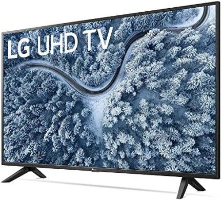 LG 55 Inch UP7000 Series 4K LED UHD Smart webOS TV (2021 Model) Bundle with Deco Home 60W 2.0 Channel Soundbar, 37-70 inch TV Wall Mount Bracket Bundle and 6-Outlet Surge Adapter 3