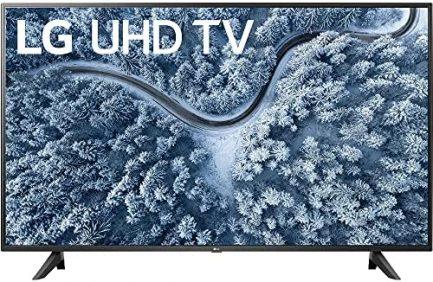LG 65 Inch UP7000 Series 4K LED UHD Smart webOS TV (2021 Model) Bundle with Deco Home 60W 2.0 Channel Soundbar, 37-70 inch TV Wall Mount Bracket Bundle and 6-Outlet Surge Adapter 2