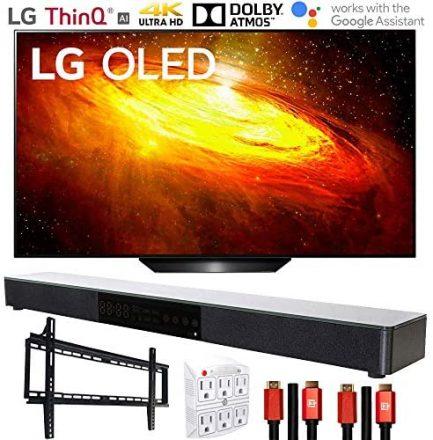 "LG OLED65BXPUA 65"" BX 4K OLED TV AI ThinQ (2020) with Deco Gear Soundbar Bundle 1"