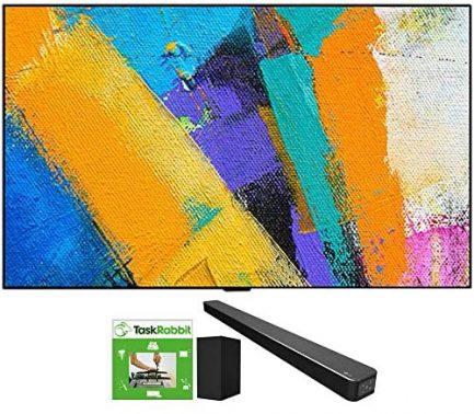 LG OLED65GXPUA 65-inch GX 4K Smart OLED TV with AI ThinQ (2020 Model) Bundle SN6Y 3.1 Channel High Res Audio Sound Bar + TaskRabbit Installation Services 1
