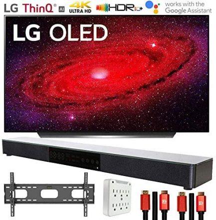 "LG OLED77CXPUA 77"" CX 4K OLED TV w/AI ThinQ (2020) with Deco Gear Soundbar Bundle 1"
