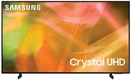 SAMSUNG 55-Inch Class Crystal UHD AU8000 Series - 4K UHD HDR Smart TV with Alexa Built-in (UN55AU8000FXZA, 2021 Model) (Renewed) 1