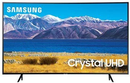 SAMSUNG 55-inch Class Curved UHD TU-8300 Series - 4K UHD HDR Smart TV With Alexa Built-in (UN55TU8300FXZA, 2020 Model) 1