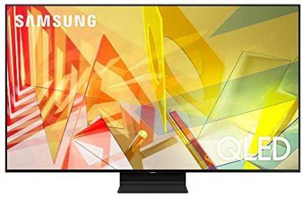 SAMSUNG 65-inch Class QLED Q90T Series - 4K UHD Direct Full Array 16X Quantum HDR 16X Smart TV with Alexa Built-in (QN65Q90TAFXZA, 2020 Model) 1