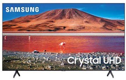 SAMSUNG 82-Inch Class Crystal UHD TU7000 Series- 4K UHD HDR Smart TV with Alexa Built -in (UN82TU7000FXZA, 2020 Model) 1