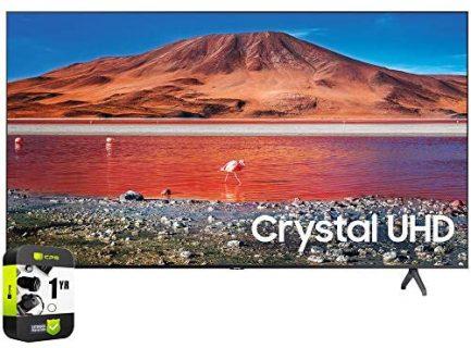 Samsung UN65TU7000FXZA 65 inch 4K Ultra HD Smart LED TV 2020 Model Bundle with Support Extension 1