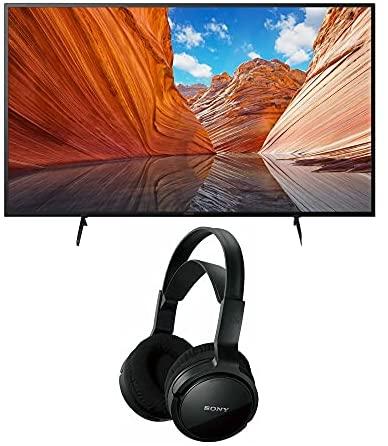Sony KD43X80J BRAVIA 43-Inch 4K Ultra HD HDR LED Smart TV (2021 Model Year) Home Theater Headphones Bundle (2 Items) 1