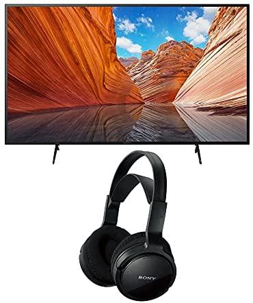 Sony KD50X80J BRAVIA 50-Inch 4K Ultra HD HDR LED Smart TV (2021 Model Year) Home Theater Headphones Bundle (2 Items) 1