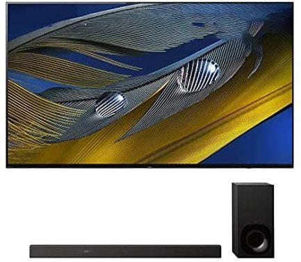 "Sony XR-55A80J 55"" OLED BRAVIA XR 4K Ultra HD Smart TV with a Sony HT-Z9F 3.1 Channel Bluetooth Built-in Wi-Fi Dolby Atmos Soundbar (2021) 1"